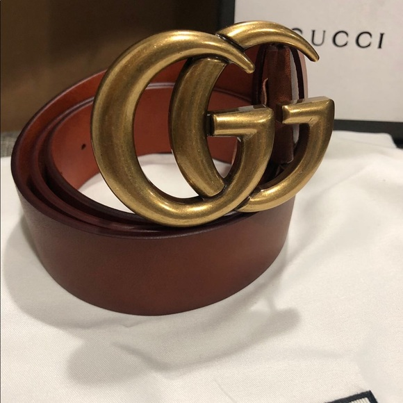 Gucci Other - 🌸New Gucci Brown Gold Brass Belt